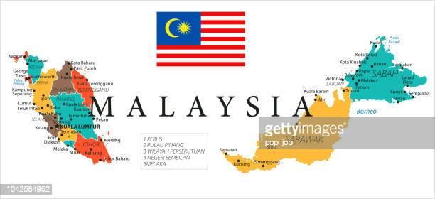 Map of Malaysia - Vector