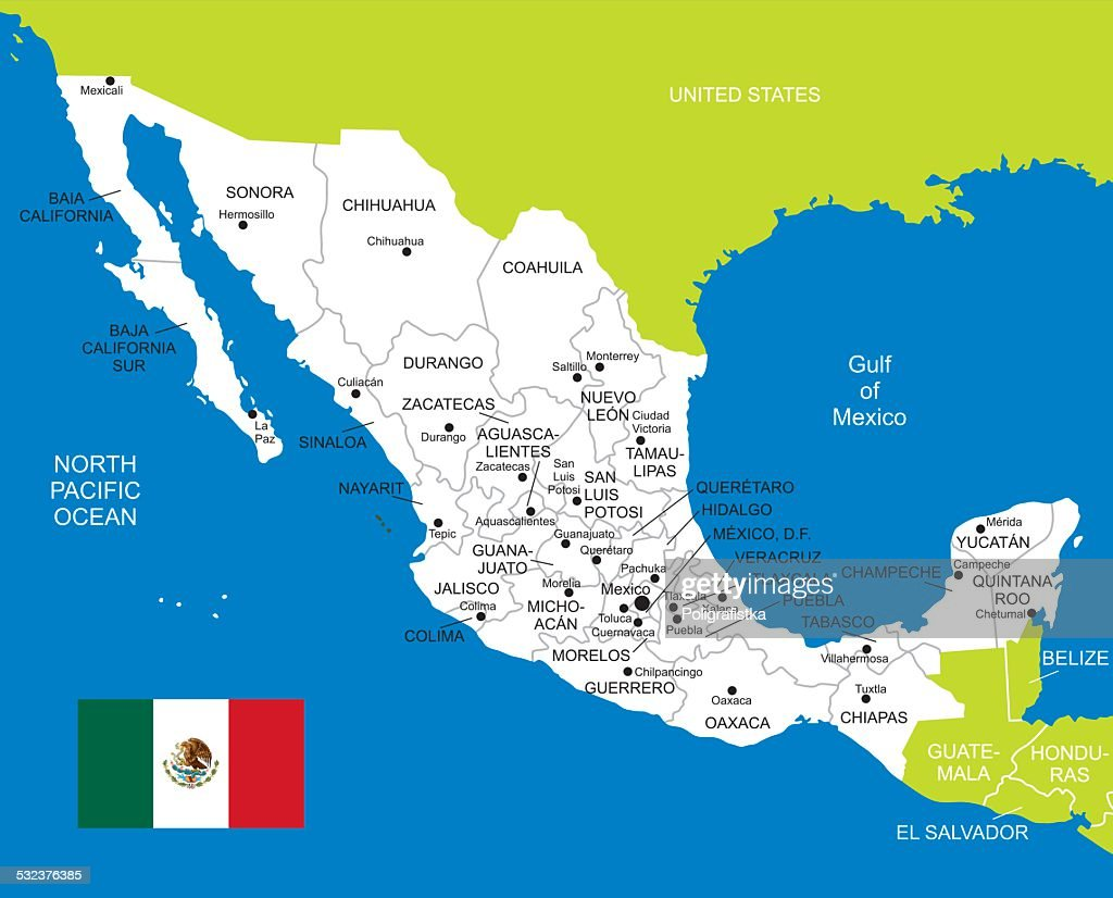 Map Of Mexico Vector Art Getty Images