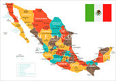 Map of Mexico - Vector