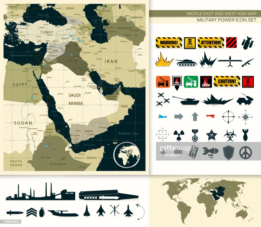 Map Of Middle East And Asia