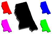 3D map of Mississippi