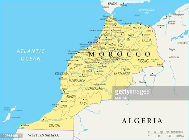 Map of Morocco - Vector