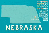 Map of Nebraska with icons