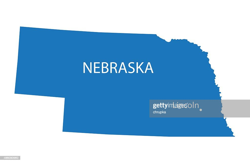 map of Nebraska with indication of Lincoln