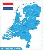 Map of Netherlands - Illustration
