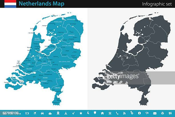 Map of Netherlands - Infographic Set