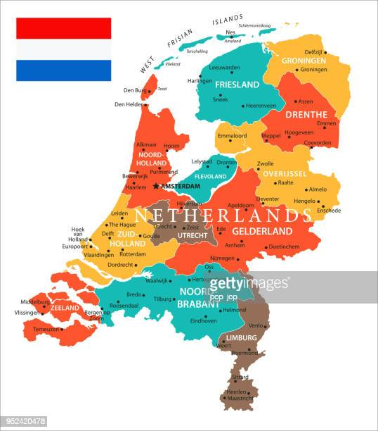 Map of Netherlands - Vector