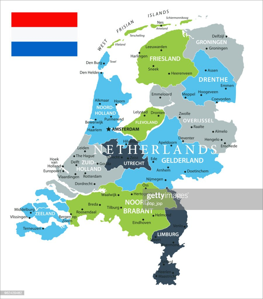 Map Of Netherlands Vector Vector Art Getty Images