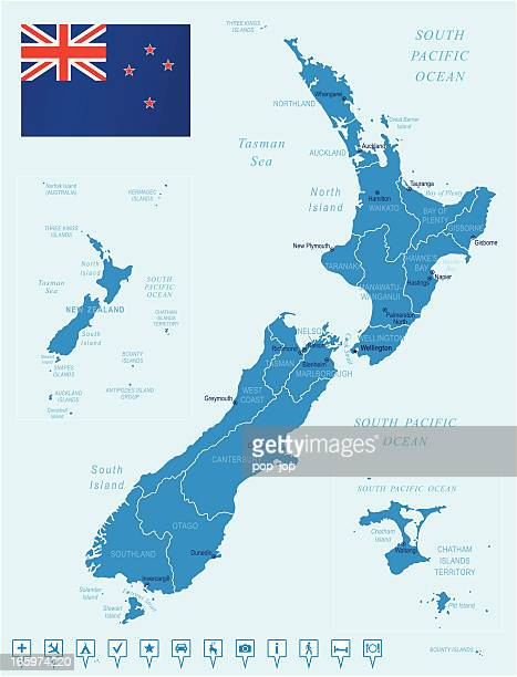 Map Of New Zealand North Island.60 Top North Island New Zealand Stock Illustrations Clip Art