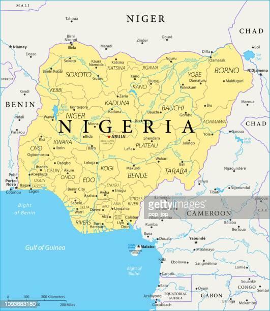 ilustrações, clipart, desenhos animados e ícones de mapa da nigéria - vetor - níger