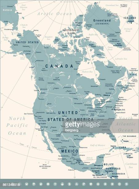 Karte von Nordamerika. Vektor-Illustration