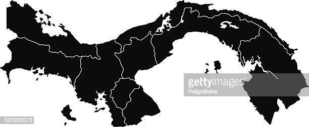 map of panama - panama city stock illustrations, clip art, cartoons, & icons