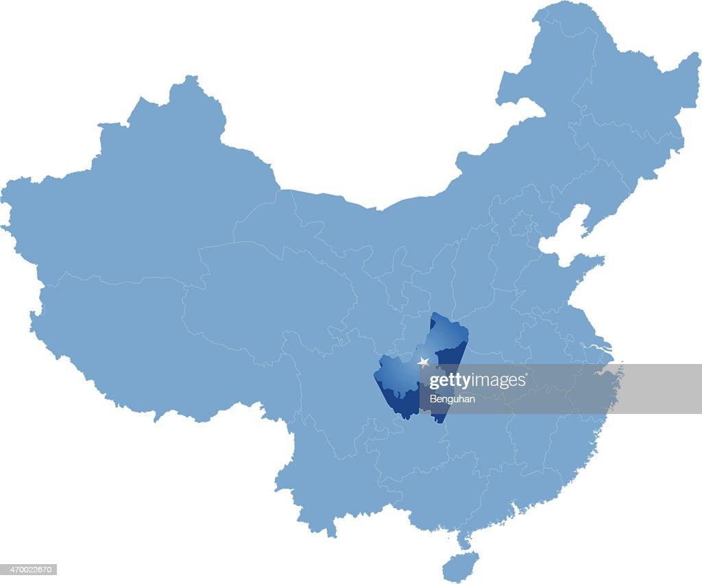 Map of People's Republic of China - Chongqing Municipality