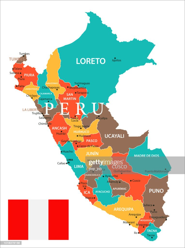 Map Of Peru Vector High-Res Vector Graphic - Getty Images