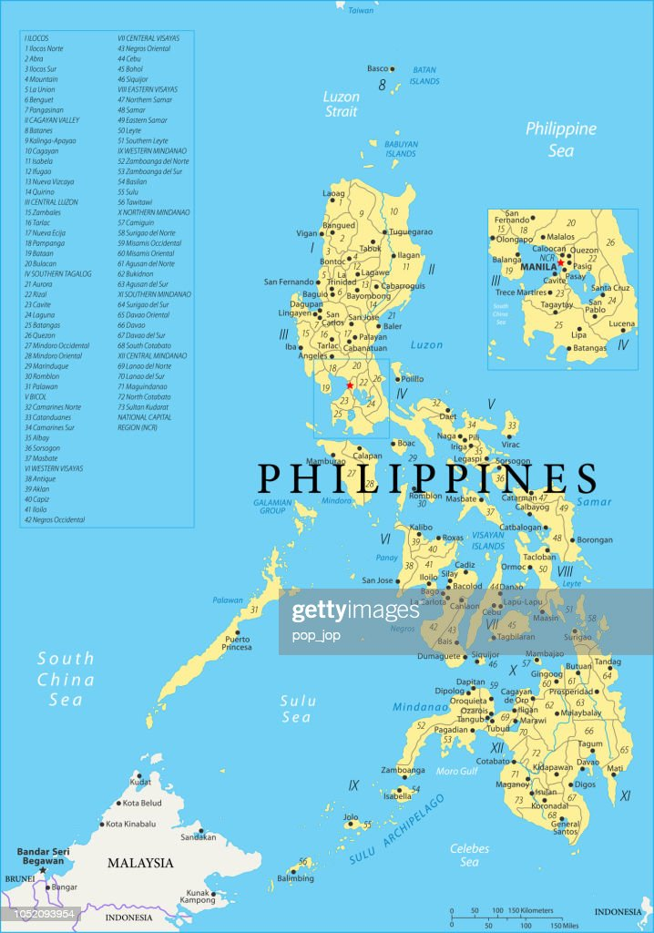 Masbate Philippines Map.Map Of Philippines Vector Vector Art Getty Images