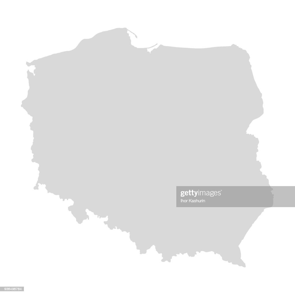 map of Poland for your design