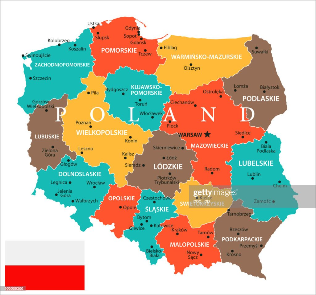 Lomza Poland Map.Map Of Poland Vector Vector Art Getty Images
