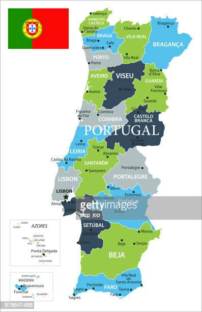 map of portugal - vector - corsica stock illustrations, clip art, cartoons, & icons