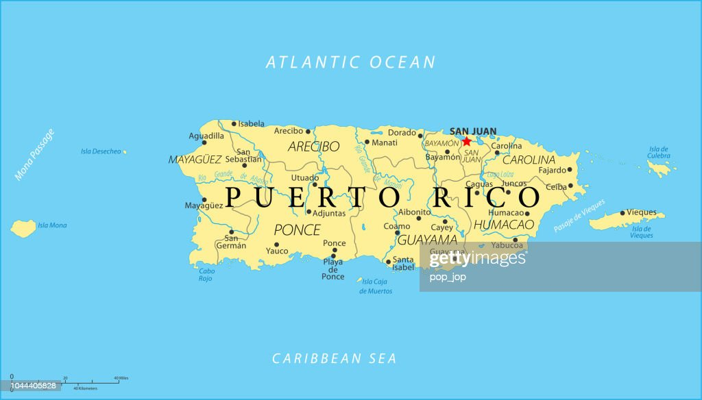 Map Of Puerto Rico Vector High-Res Vector Graphic - Getty Images