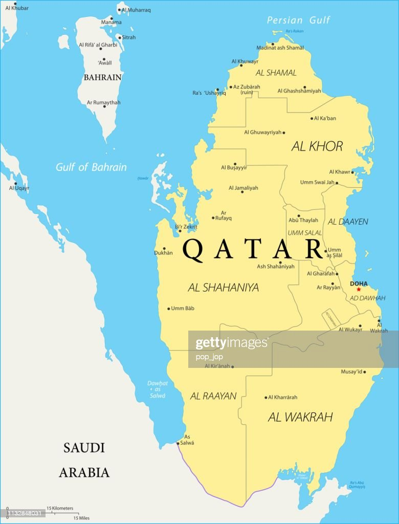 Map Of Qatar Vector High-Res Vector Graphic - Getty Images