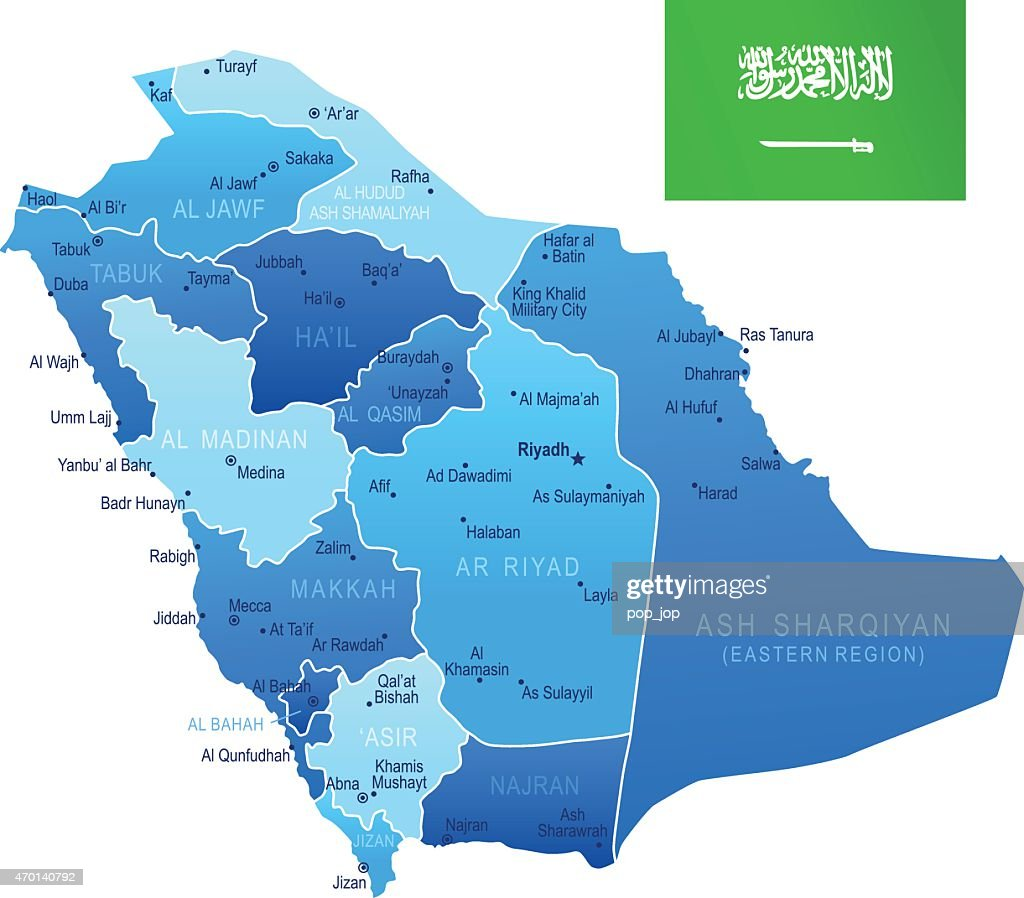 Map Of Saudi Arabia Vector Art Getty Images