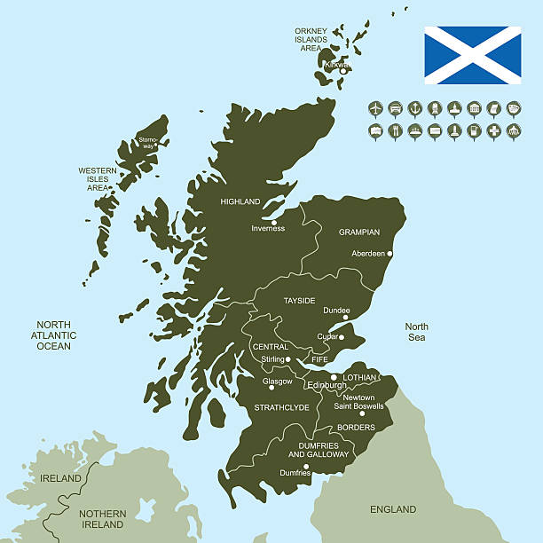 Map Of Scotland Wall Art