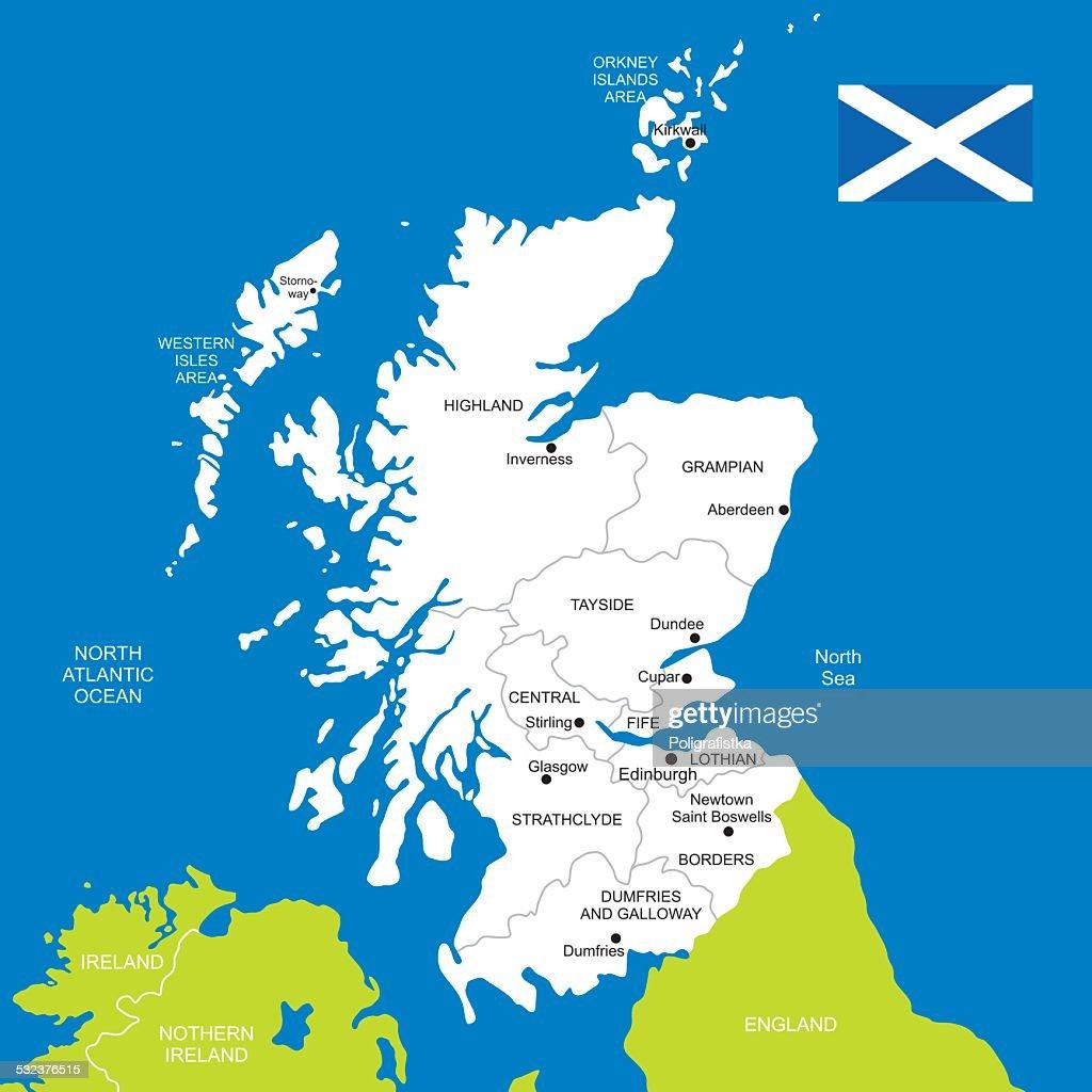 Cartina Geografica Della Scozia.Mappa Di Scozia Illustrazione Stock Getty Images