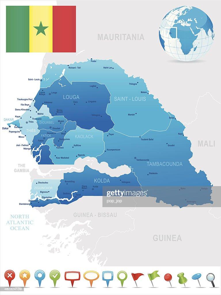 Map Of Senegal States Cities Flag And Icons High-Res Vector ... Dakar City Map on ramallah city map, limassol city map, ibadan city map, bulawayo city map, apia city map, aleppo city map, fortaleza city map, libya city map, cameroon city map, gwangju city map, kumasi city map, accra city map, cotonou city map, goteborg city map, murmansk city map, kaliningrad city map, malabo city map, zambia city map, dushanbe city map,