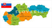 Map of Slovakia - Vector