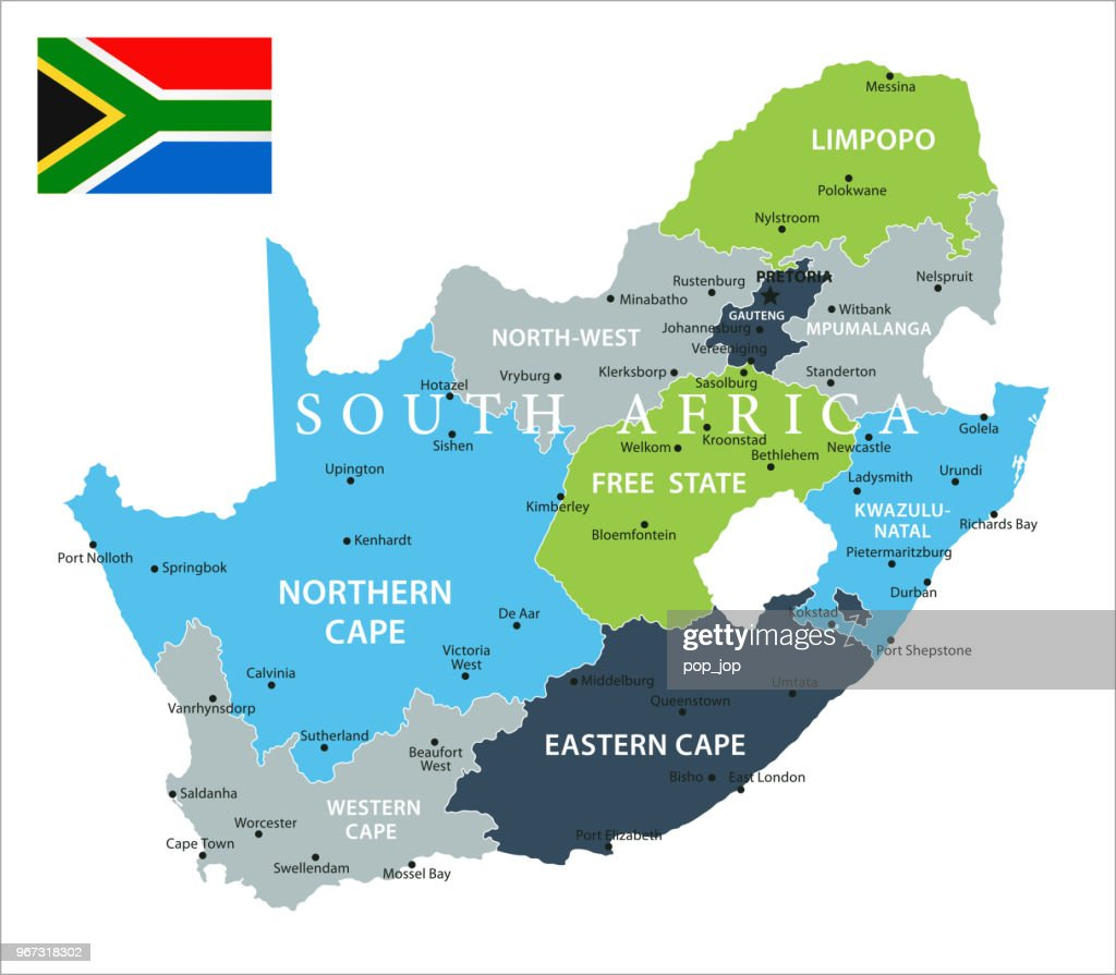 Map of South Africa - Vector : stock illustration
