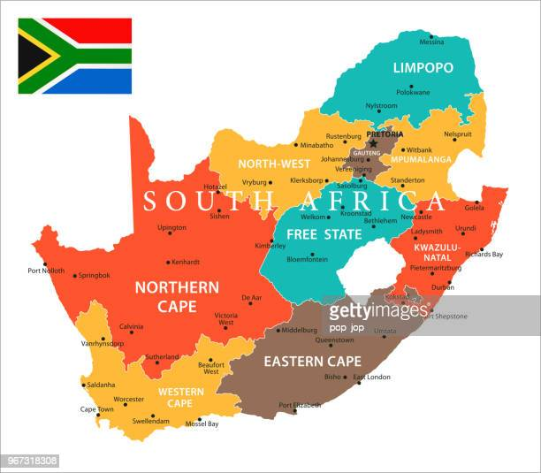 Map of South Africa - Vector