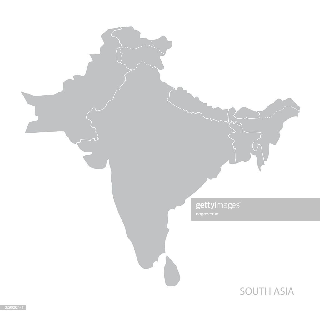 Map of South Asia.