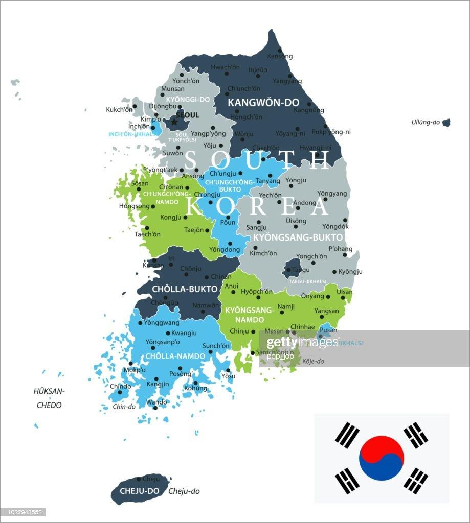 Ulsan Korea Map.Map Of South Korea Infographic Vector Vector Art Getty Images