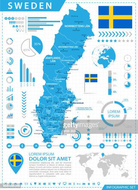 Map of Sweden - Infographic Vector