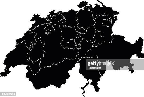 map of switzerland - sion switzerland stock illustrations