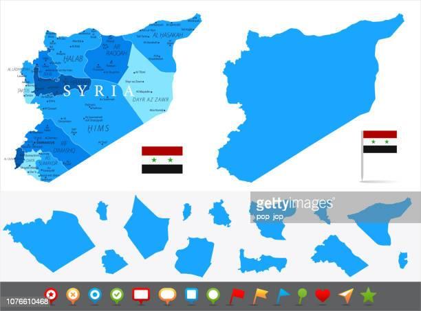 Karte von Syrien - Infografik Vektor