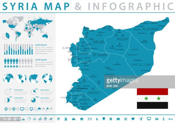 Map of Syria - Infographic Vector