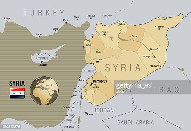 map of syria - syria stock illustrations