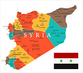 Map of Syria - Vector