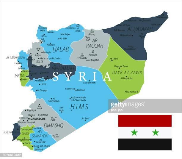 Karte von Syrien - Vektor