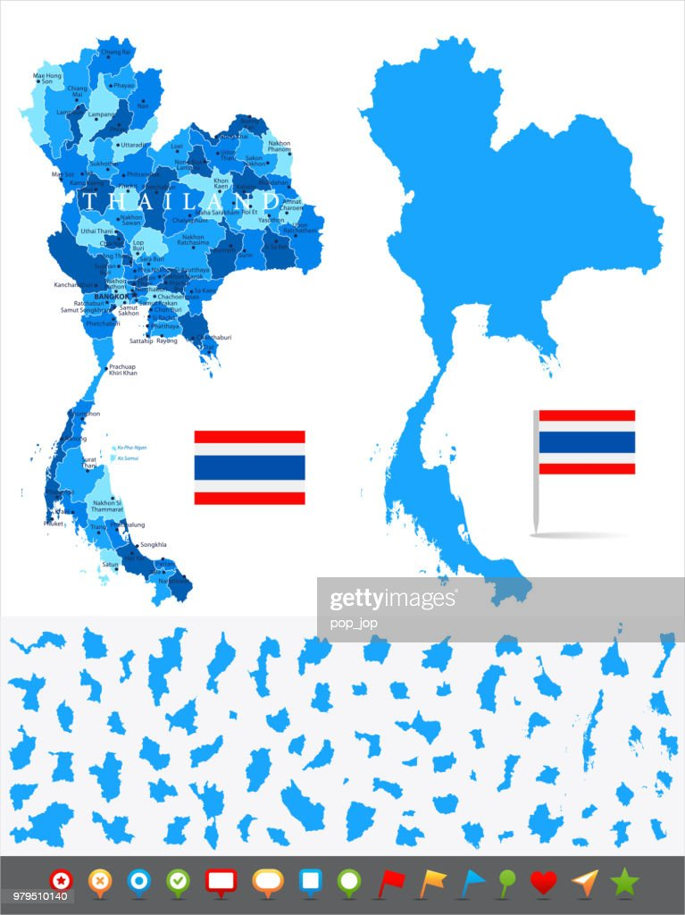 Map Of Thailand Infographic Vector stock vector | Getty Images