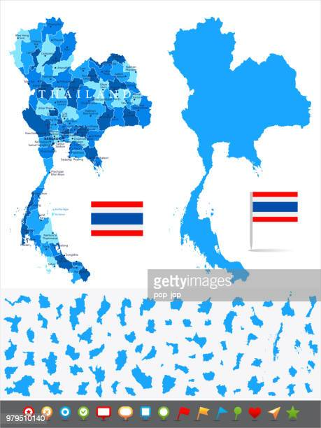Map of Thailand - Infographic Vector