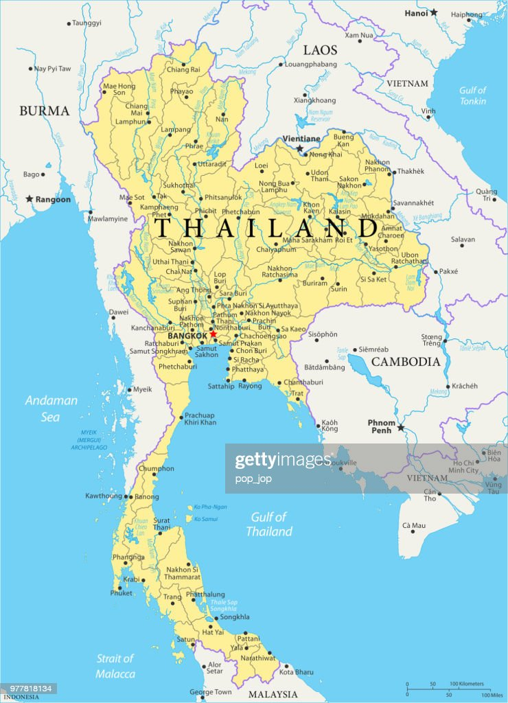 Map of Thailand - Vector : stock illustration