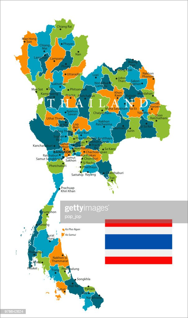 Map Of Thailand Vector High-Res Vector Graphic - Getty Images