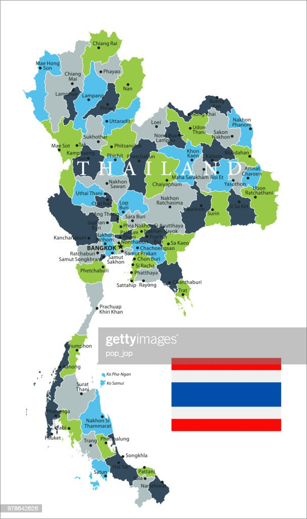 Map Of Thailand Vector Vector Art | Getty Images