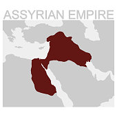 map of the Assyrian Empire