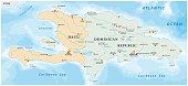 map of the Caribbean island of Hispaniola