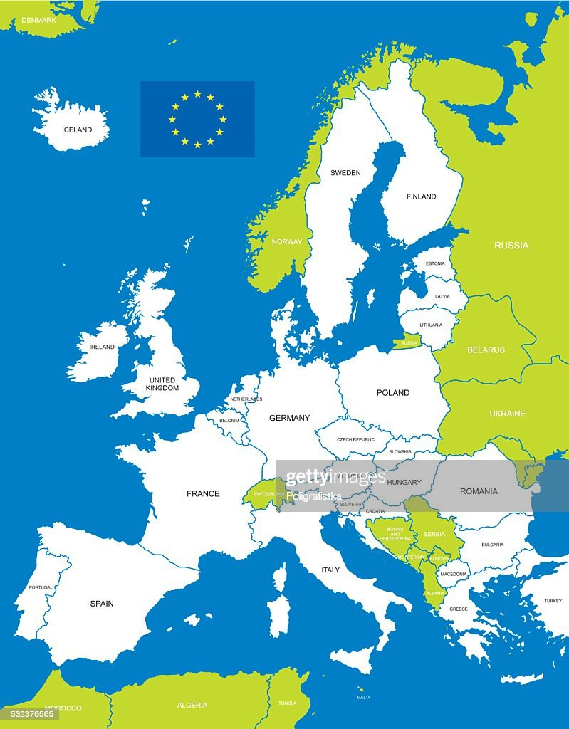 Map Of The European Union stock illustration - Getty Images