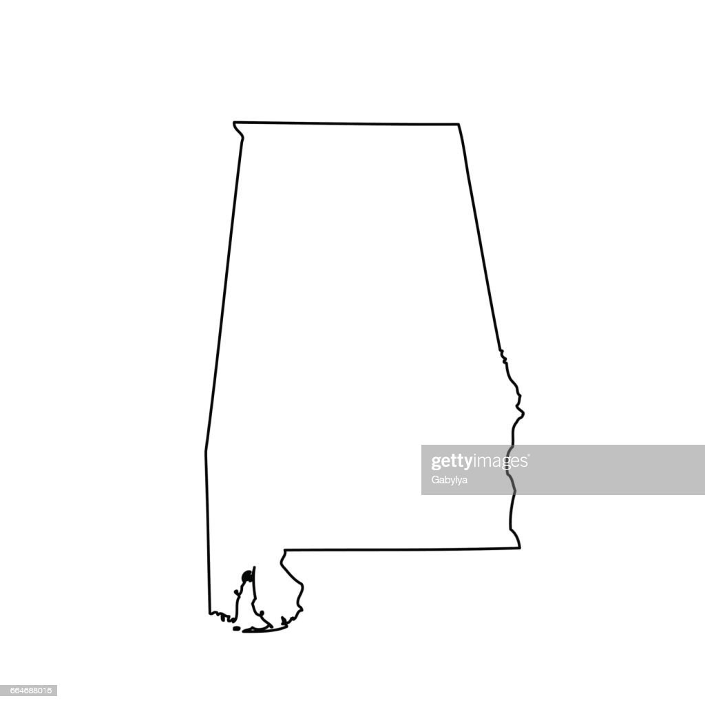map of the U.S. state Alabama