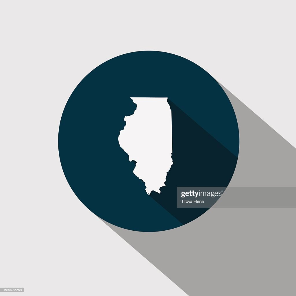 map of the U.S. state Illinois